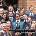 Celebridades que sorprendieron al obtener un título de Doctorado y pocos lo sabían