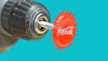 3 Awesome Life Hacks with Drill vs coca cola