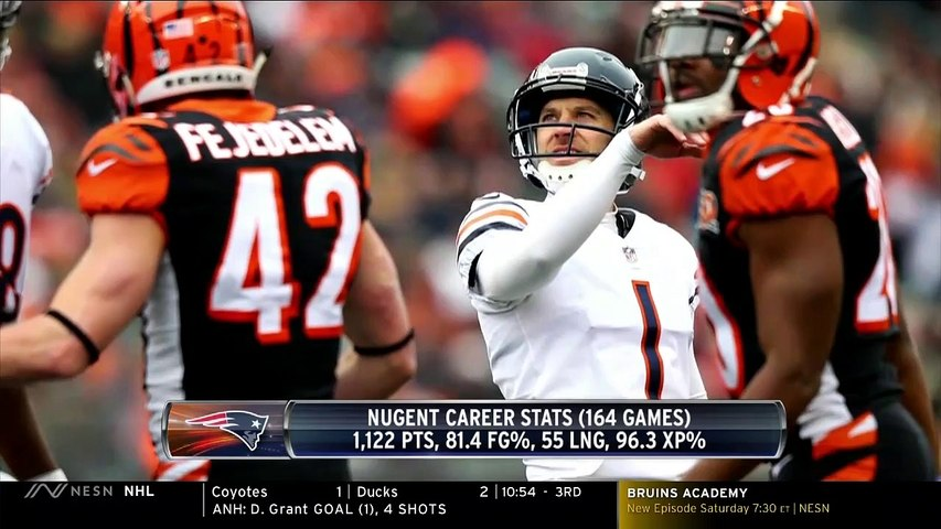 NESN's Doug Kyed, Matt Chatham Discuss Patriots' Signing Of Mike Nugent