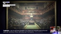 """L'œuvre de Banksy """"Le Parlement des singes"""" vendue 11 millions d'euros aux enchères"""