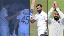 IND vs SA 2019,1st Test : Rohit Sharma Gets Pat From Virat Kohli, After His Stunning Performance