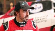 Entrevista a Fernando Alonso antes del Rally de Marruecos