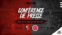 J9. Stade Rennais F.C. / Reims : conférence de presse en direct