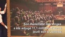11,1 millions d'euros pour le Parlement des singes, record pour Banksy