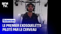 Pour la première fois, Thibault, tétraplégique, a pu remarcher .. grâce à un exosquelette connecté à son cerveau