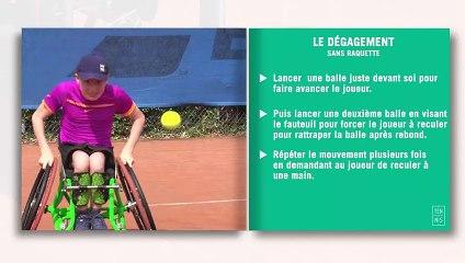 Les fiches techniques du tennis-fauteuil : le dégagement
