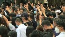 Hong Kong, in vigore divieto di usare maschere a proteste