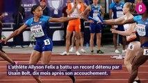 Allyson Felix bat Usain Bolt 10 mois après son accouchement