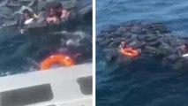 Des narcotrafiquants sauvés de la noyade grâce à leurs sacs de cocaïne qui flottent