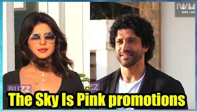 Priyanka Chopra and Farhan Akhtar spotted promoting The Sky Is Pink