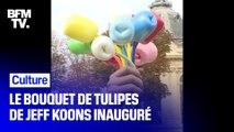 """Offert par Jeff Koons, le """"Bouquet de Tulipes"""" a été inauguré ce vendredi à Paris"""