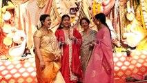Kajol, Tanisha and Sharbani Attend Maha Shashti Puja | Watch Video