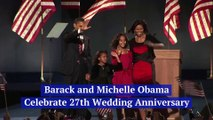 Barack and Michelle Obama Celebrate 27th Wedding Anniversary