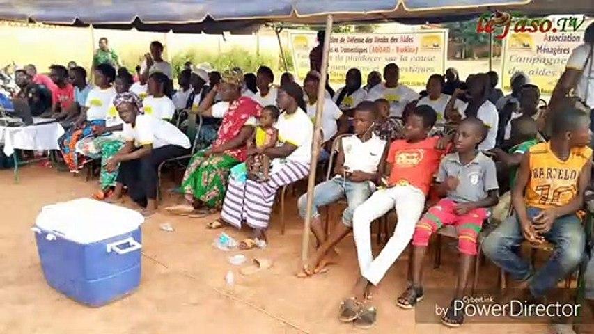 Droits des aides ménagères l'ADDAD sensibilise les populations de Ouagadougou   Godialy.com