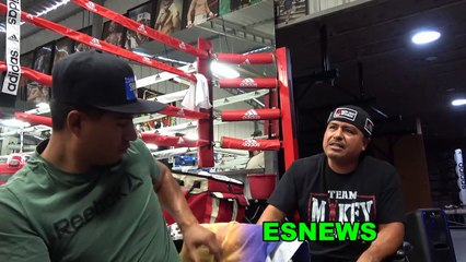 Robert Garcia & Mikey Recall Times With Pelos Garcia In The Gym