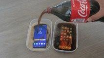 iPhone XS Max vs Samsung Galaxy S9 Plus Coca Cola Freeze Test 24 Hours!