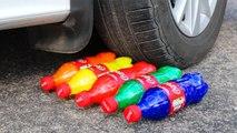 Crushing Crunchy & Soft Things by Car! - EXPERIMENT - CAR VS RAINBOW COCA COLA