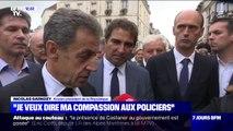 """Nicolas Sarkozy fait part de """"sa compassion"""" aux policiers après la """"sauvagerie inouïe"""" à la Préfecture de police de Paris"""