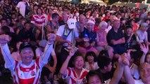 Mondial de rugby : la victoire du Japon fêtée par les supporters