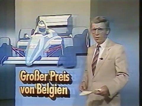 Formel 1 Spa 1985 - Unfall Stefan Bellof  @ ARD