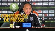 Conférence de presse FC Lorient - AC Ajaccio (0-0) : Christophe PELISSIER (FCL) - Olivier PANTALONI (ACA) - 2019/2020
