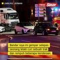 Gempar lelaki curi trak dan rempuh kenderaan ditahan