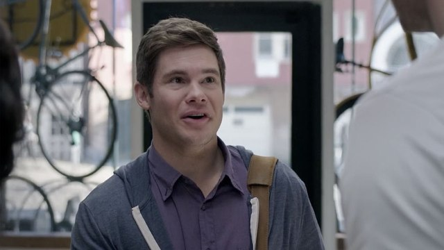 Exclusive: Adam DeVine Has an Extremely Awkward Run-in With Justin Hartley in This Jexi Clip