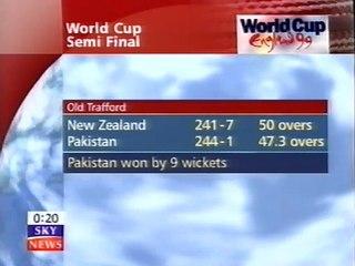 Cricket World Cup 1999 - Pakistan v New Zealand  Semi Final