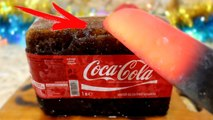EXPERIMENT Glowing 1000 degree KNIFE VS ICE COCA COLA