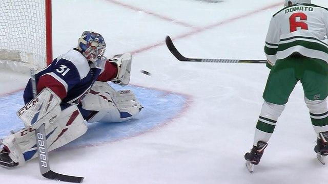 Philipp Grubauer robs Ryan Donato with terrific glove save