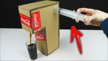How to Make Coca Cola Fountain Machine Using a SYRINGE at Home