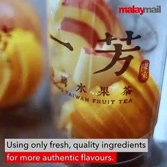 Authentic Taiwanese tea drinks made healthy @ Yi Fang Fruit Tea, Sunway Pyramid