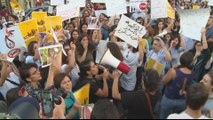 Palestinians protest over domestic violence