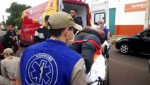 Colisão seguida de capotamento deixa quatro feridos no Bairro Brasília