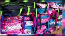 RTG / Distribution de kits scolaires aux apprenants du Dienga par Irène Lissengué