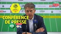 Conférence de presse AS Saint-Etienne - Olympique Lyonnais (1-0) : Claude  PUEL (ASSE) -   SYLVINHO (OL) / 2019-20