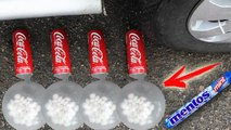 Crushing Crunchy & Soft Things by Car! EXPERIMENT Coca Cola and MENTOS VS Car COCA COLA !