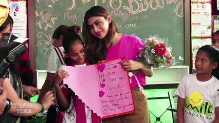 Mouni Roy Celebrates Her Birthday At Smile Foundation