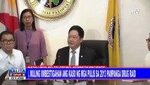 DOJ, muling iimbestigahan ang kaso ng mga pulis sa 2013 Pampanga drug raid