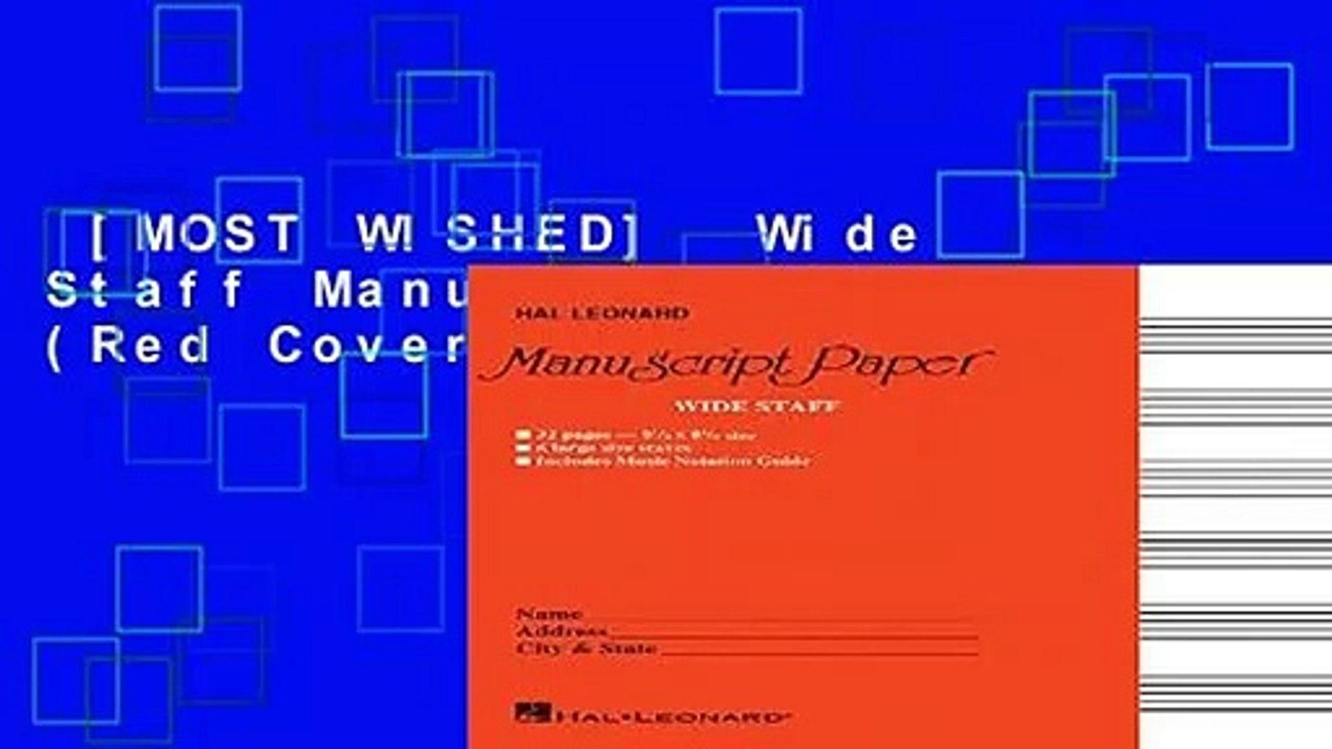 Red Cover Wide Staff Manuscript Paper