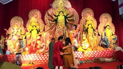 Priyanka Chopra Takes Blessings At Durga Puja With Ayan Mukerji & Deb Mukerji
