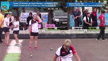 Finale , première étape du Super 16 féminin, Lavilledieu 2019