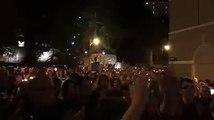 Trieste - Poliziotti uccisi, una folla commossa davanti alla Questura (05.10.19)
