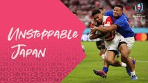 All Angles of Japans unstoppable try against Samoa