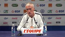 Deschamps « Pas de nature inquiète » - Foot - Qualif. Euro - Bleus
