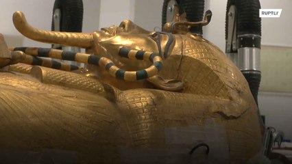 Comienza la restauración del sarcófago dorado del faraón Tutankamón