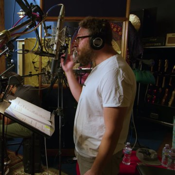 Exclusive: Watch Pharrell and Hans Zimmer Coach Seth Rogen For His Lion King Singing Debut