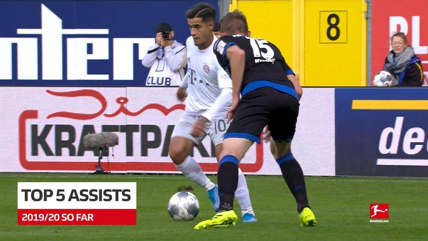 Bundesliga: Top 5 assists on 2019/20 season so far