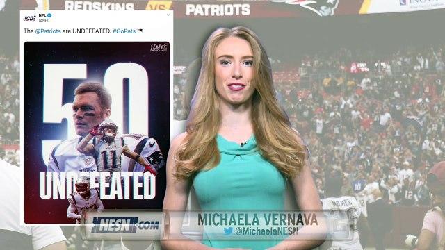 Social media reaction to Patriots Week 5 win