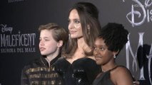 Angelina Jolie and Kids at 'Maleficent' Premiere Rome, Italy